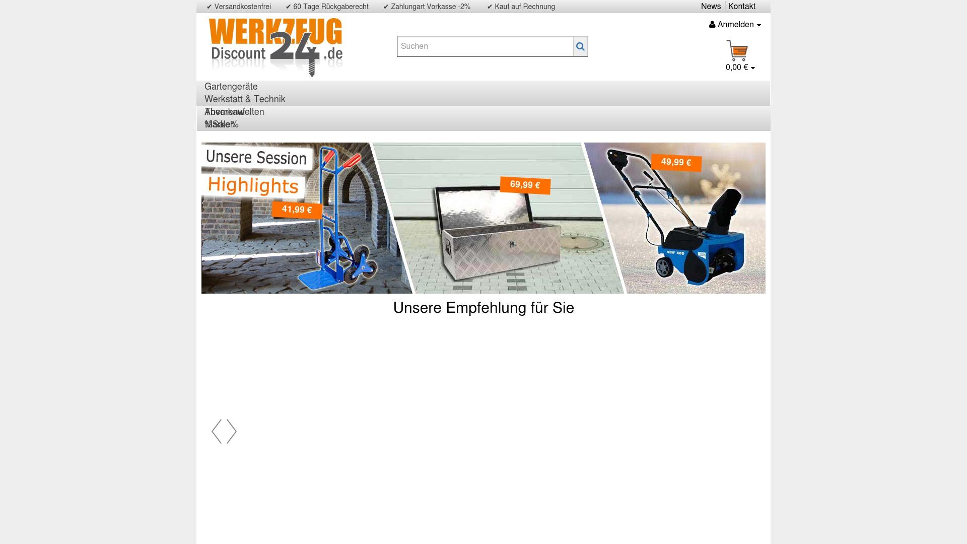 Gutschein für Werkzeugdiscount24: Rabatte für  Werkzeugdiscount24 sichern