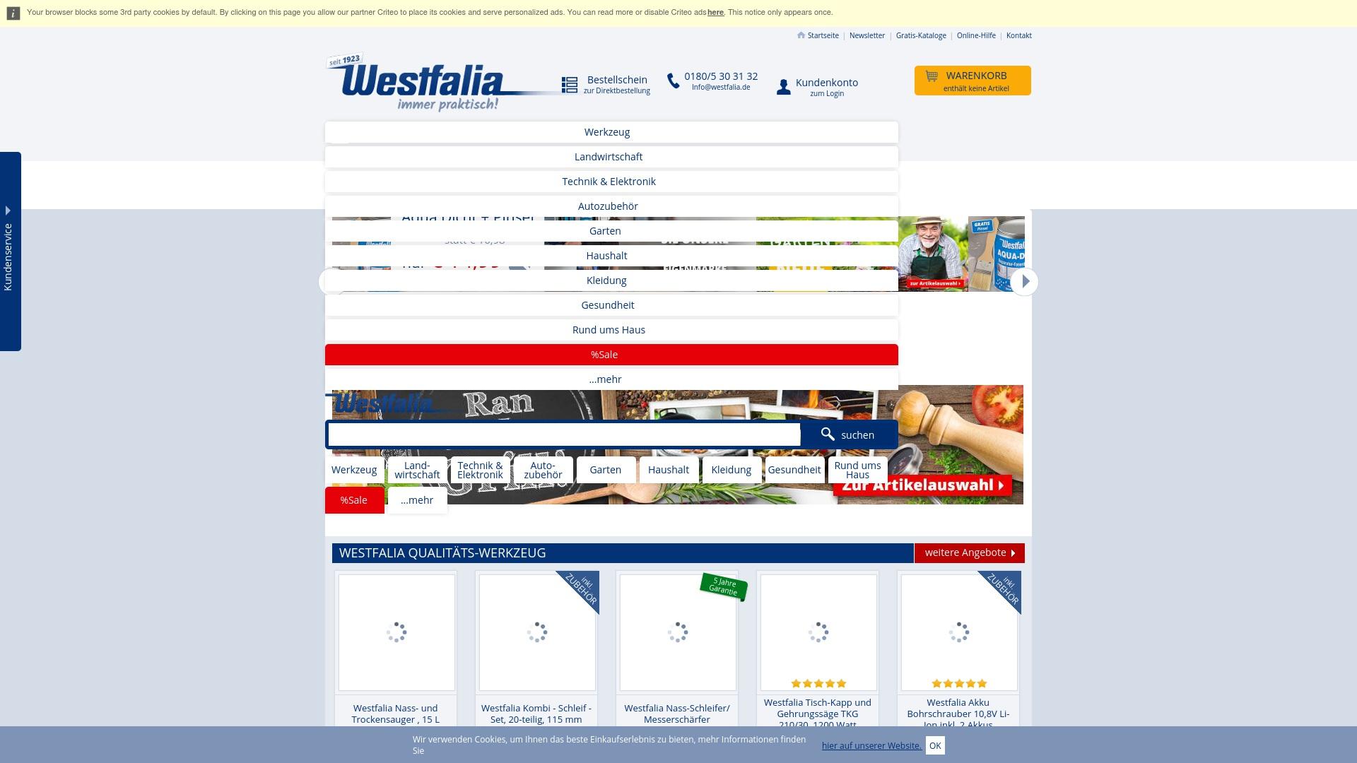 Gutschein für Westfalia: Rabatte für  Westfalia sichern