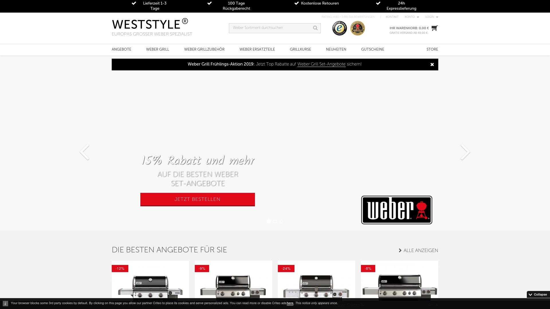 Gutschein für Weststyle: Rabatte für  Weststyle sichern