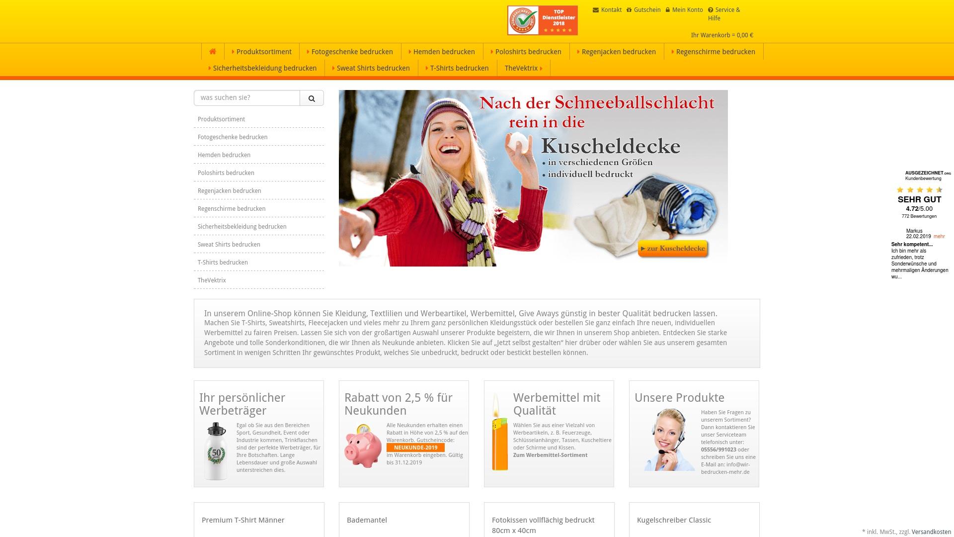 Gutschein für Wir-bedrucken-mehr: Rabatte für  Wir-bedrucken-mehr sichern