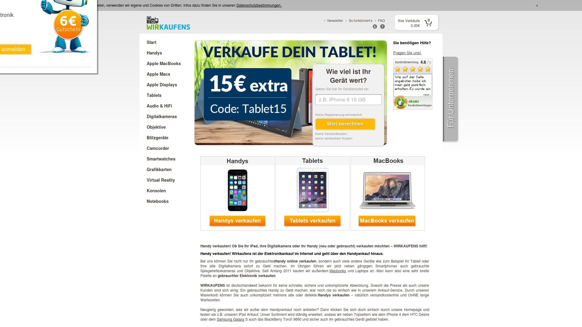 Gutschein für Wirkaufens: Rabatte für  Wirkaufens sichern