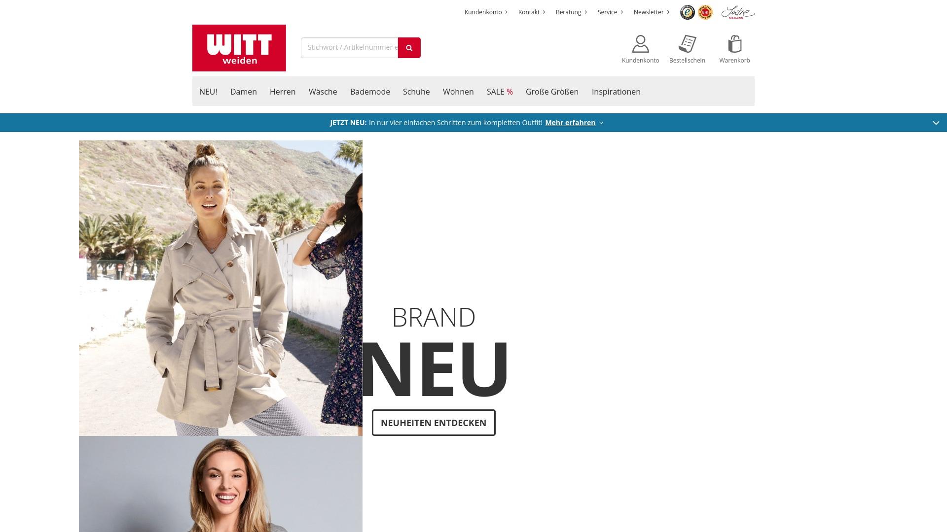 Gutschein für Witt-weiden: Rabatte für  Witt-weiden sichern