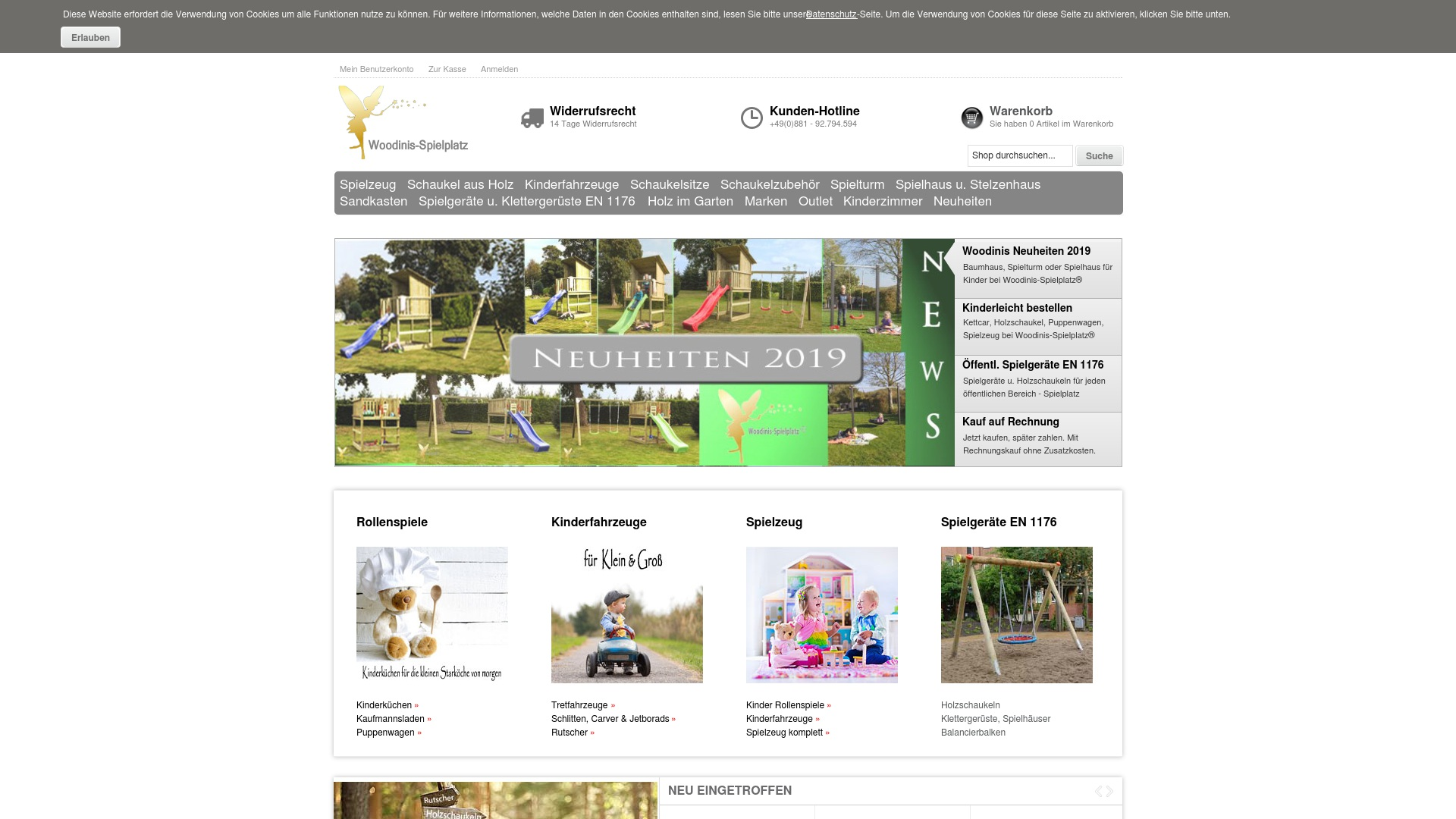 Gutschein für Woodinis-spielplatz: Rabatte für  Woodinis-spielplatz sichern