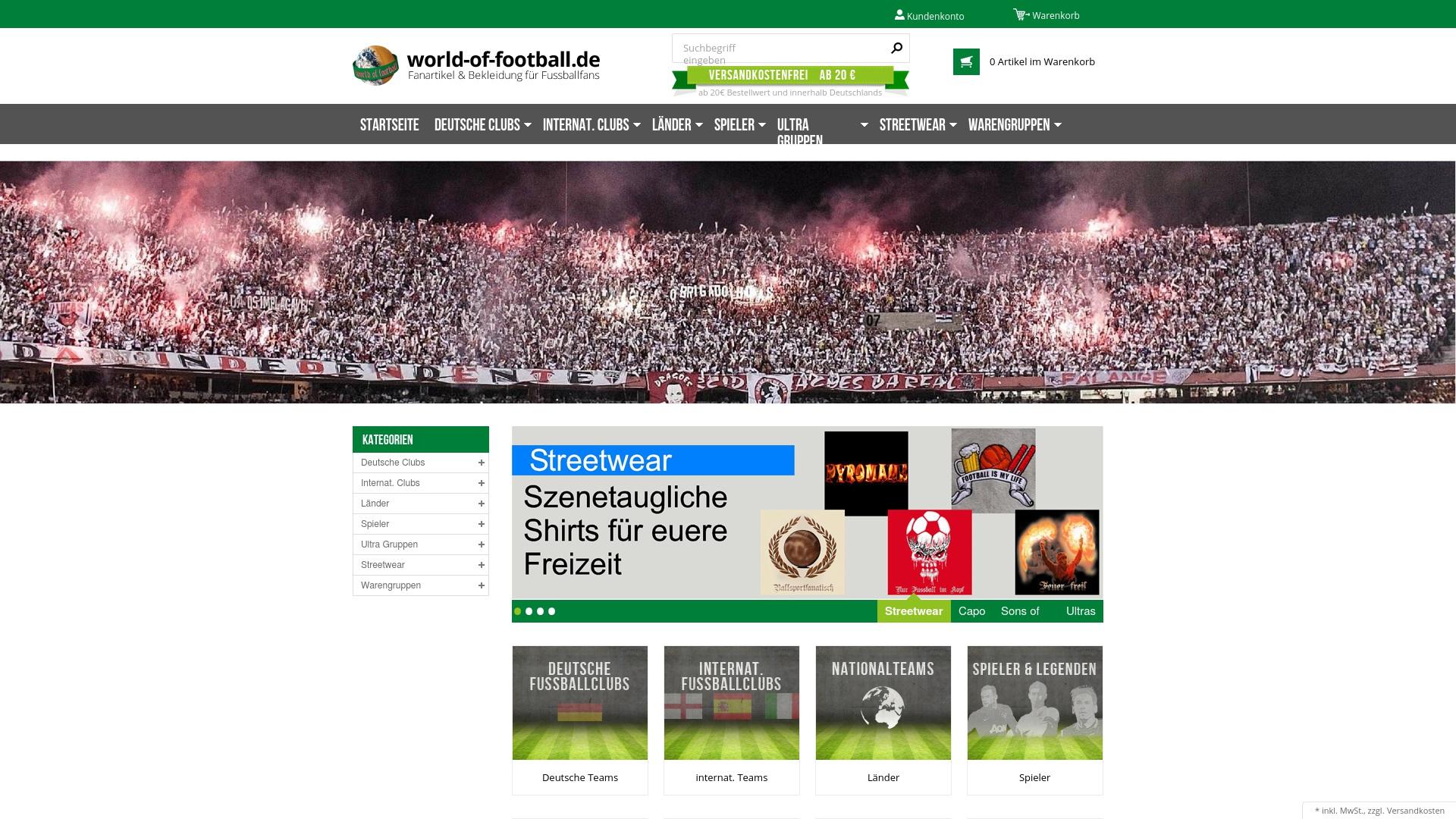 Gutschein für World-of-football: Rabatte für  World-of-football sichern