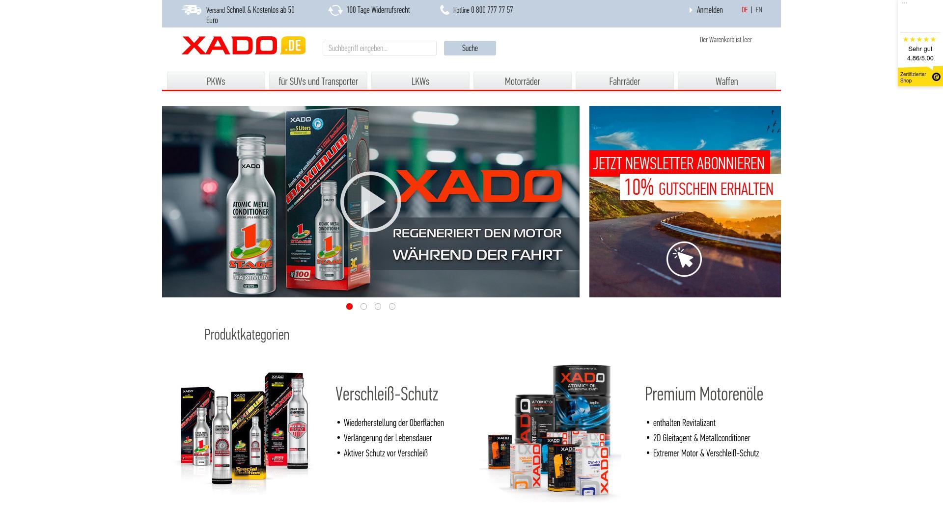 Gutschein für Xado: Rabatte für  Xado sichern