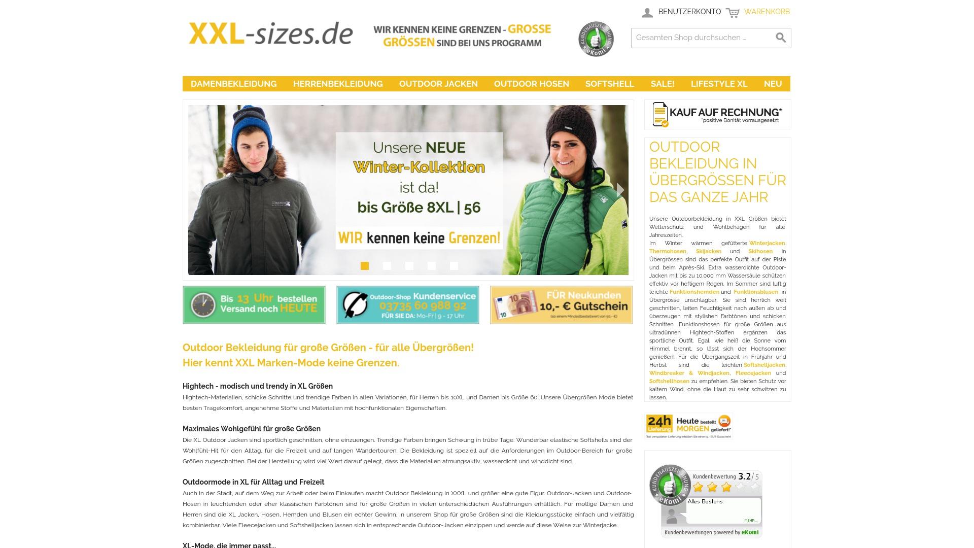 Gutschein für Xxl-sizes: Rabatte für  Xxl-sizes sichern