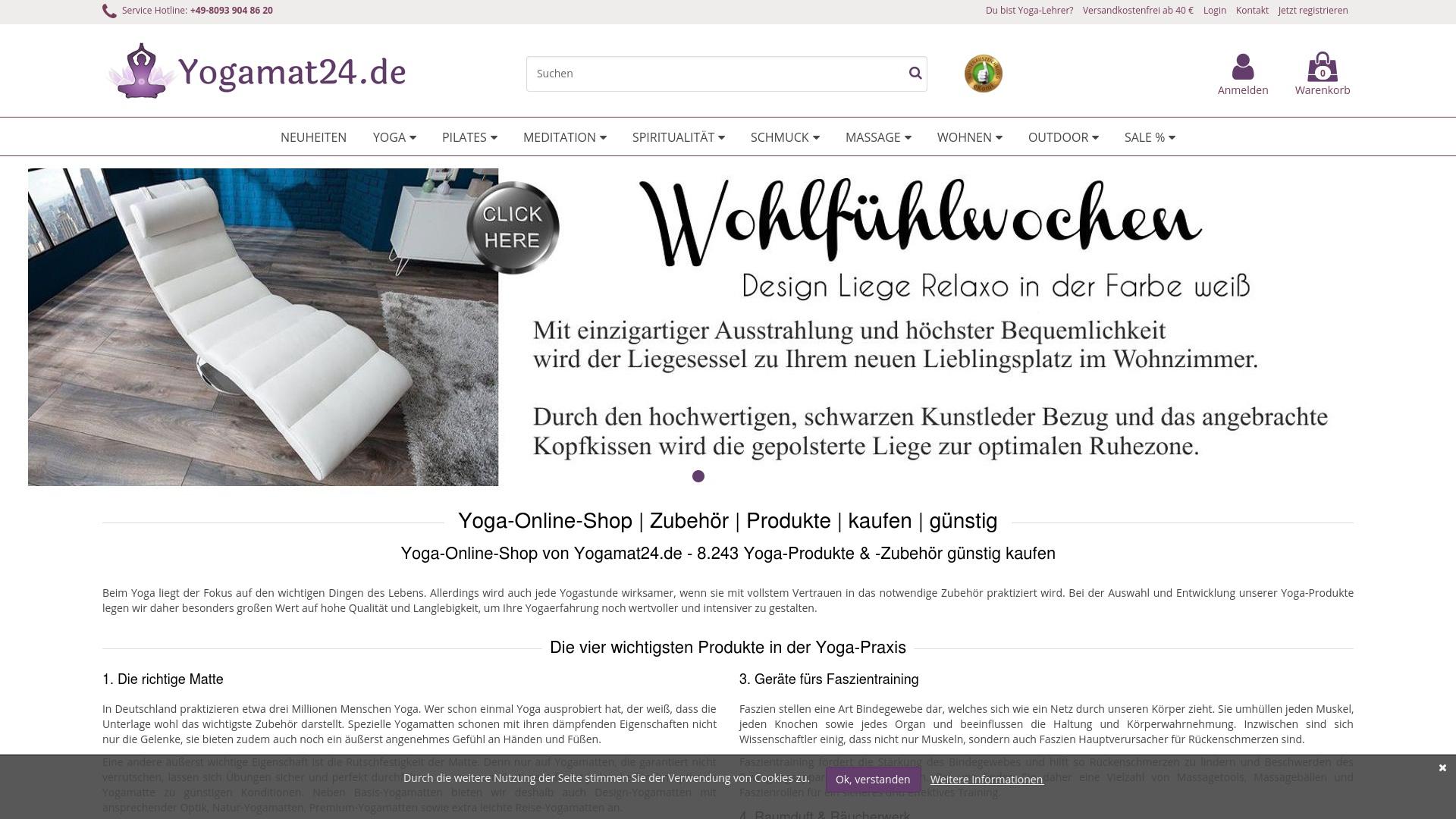 Gutschein für Yogamat24: Rabatte für  Yogamat24 sichern
