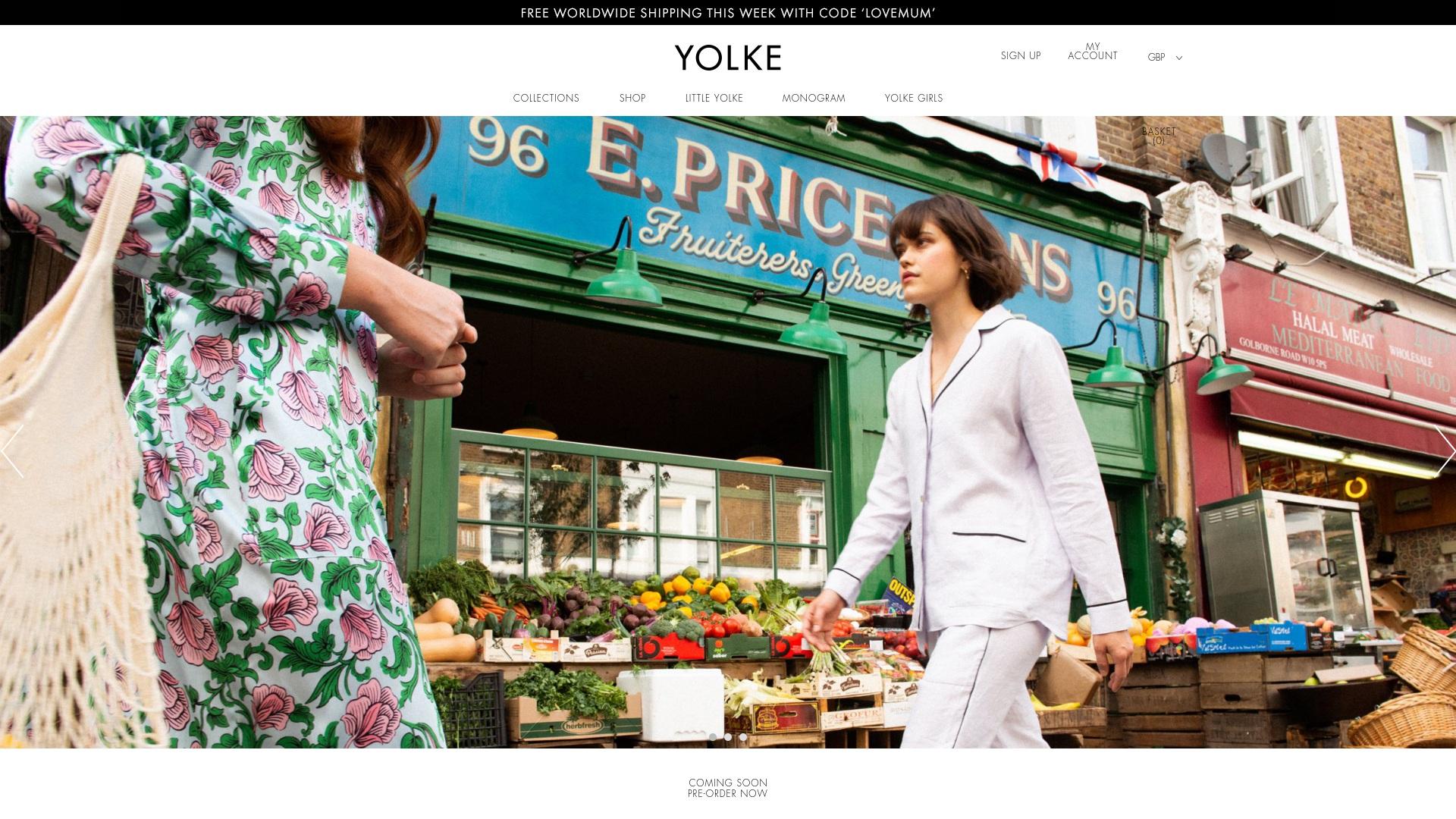 Gutschein für Yolke: Rabatte für  Yolke sichern