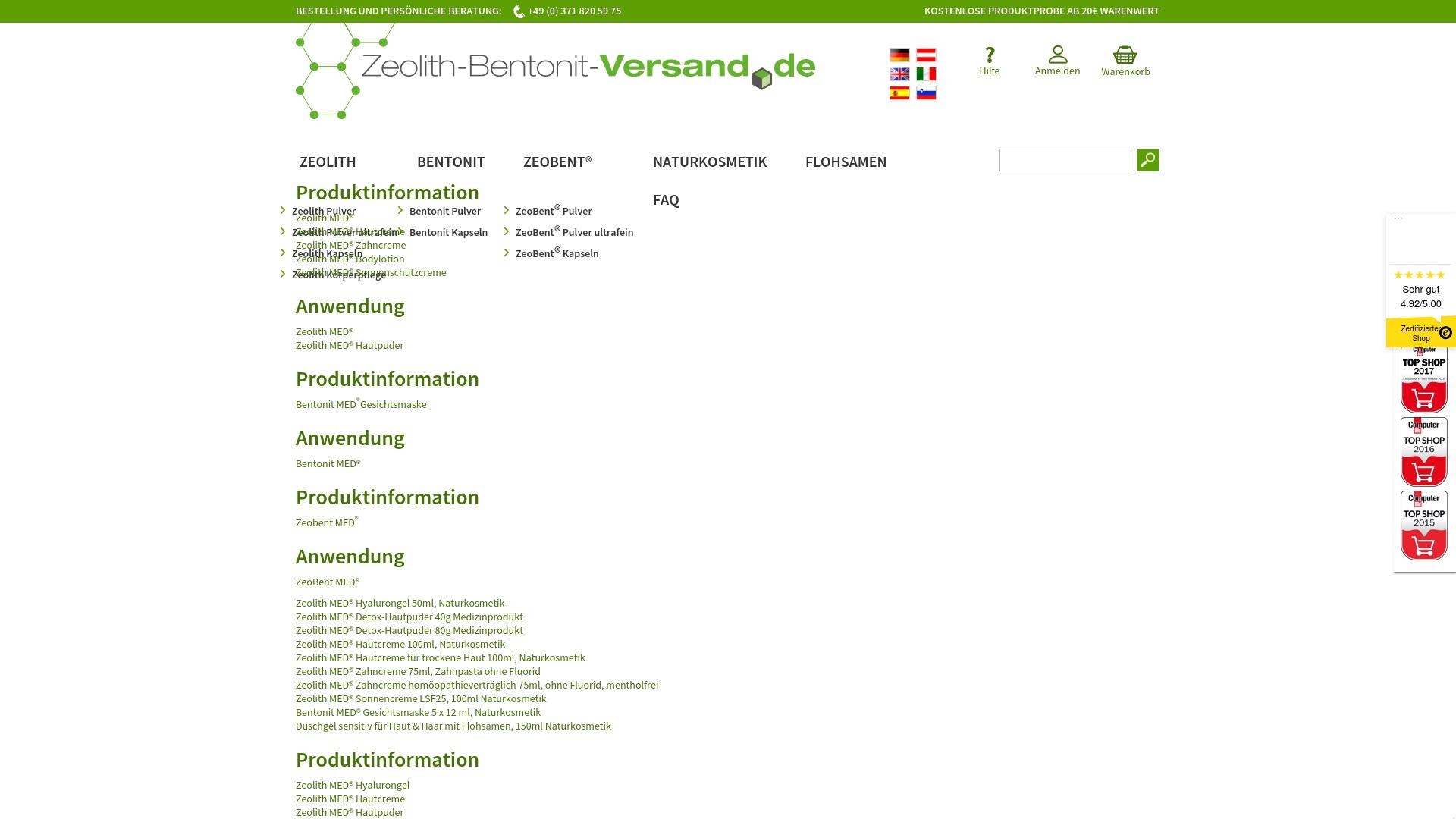 Gutschein für Zeolith-bentonit-versand: Rabatte für  Zeolith-bentonit-versand sichern
